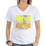 ChickenHead Anonymous Women's V-Neck T-Shirt