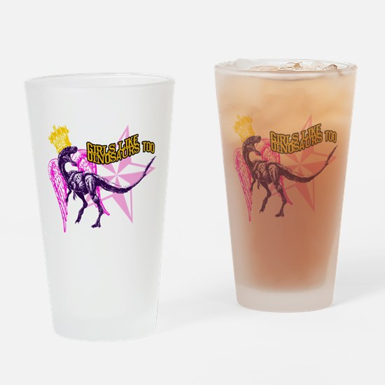 Queen Velociraptor Drinking Glass