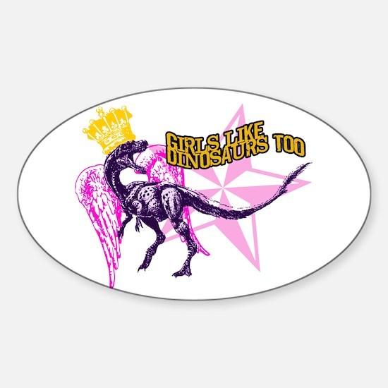 Queen Velociraptor Sticker (Oval)