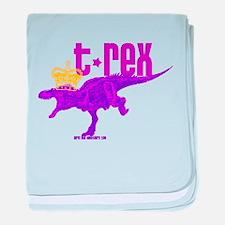 Queen Tyrannosaurus baby blanket
