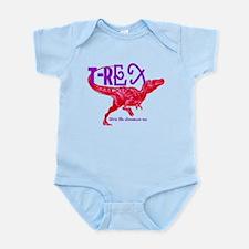Hot Pink T-Rex Infant Bodysuit