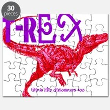 Hot Pink T-Rex Puzzle