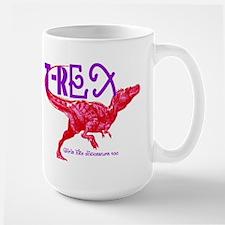 Hot Pink T-Rex Mug