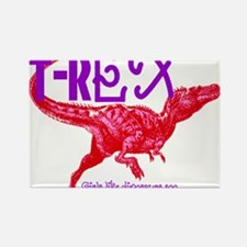 Hot Pink T-Rex Rectangle Magnet