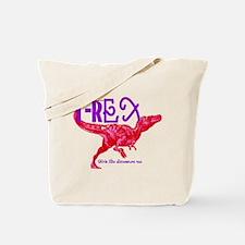 Hot Pink T-Rex Tote Bag