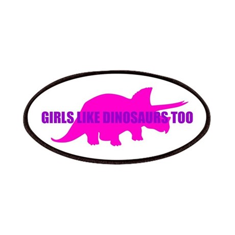 Girls Like Dinosaurs Too - Triceratops Patches