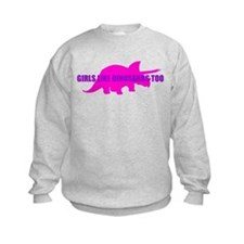 Girls Like Dinosaurs Too - Triceratops Jumper Sweater