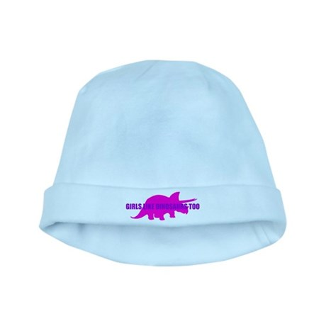 Girls Like Dinosaurs Too - Triceratops baby hat