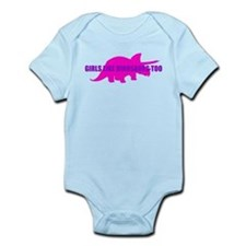 Girls Like Dinosaurs Too - Triceratops Onesie