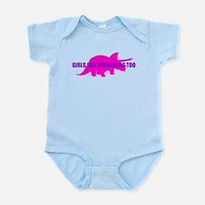 Girls Like Dinosaurs Too - Triceratops Onesie