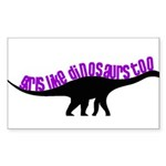 Girls Like Dinosaurs Too - Diplodocus Sticker (Rec