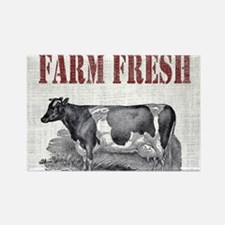 Country Chic Cow Farmhouse Magnets