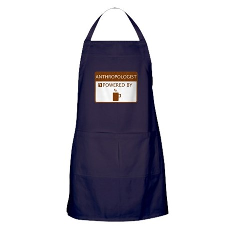 Anthropologist Powered by Coffee Apron (dark)