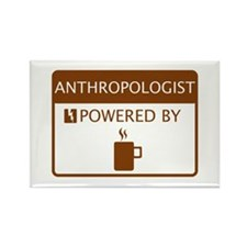 Anthropologist Powered by Coffee Rectangle Magnet
