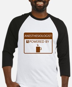 Anesthesiologist Powered by Coffee Baseball Jersey