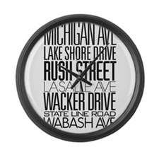 I Love ChiTown Large Wall Clock