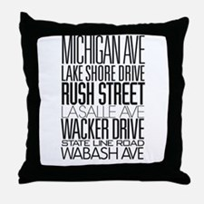 I Love ChiTown Throw Pillow