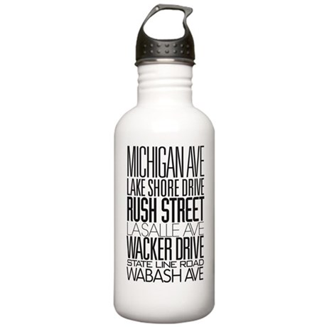 I Love ChiTown Stainless Water Bottle 1.0L