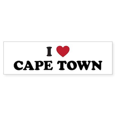 I Love Cape Town Sticker (Bumper)