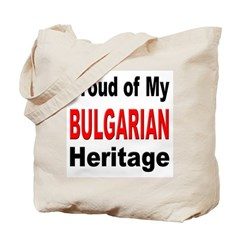 Proud Bulgarian Heritage Tote Bag