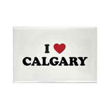 I Love Calgary Rectangle Magnet