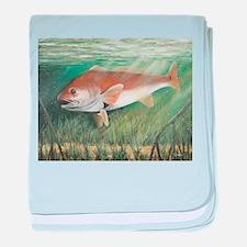 Redfish baby blanket