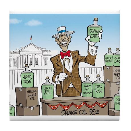 Anti Obama Snake Oil Salesman Tile Coaster