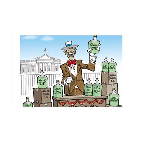 Anti Obama Snake Oil Salesman 35x21 Wall Decal