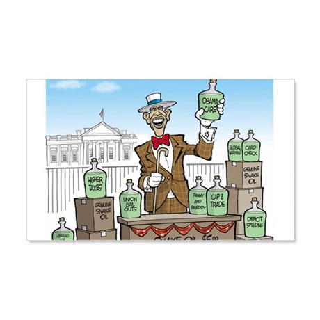 Anti Obama Snake Oil Salesman 20x12 Wall Decal