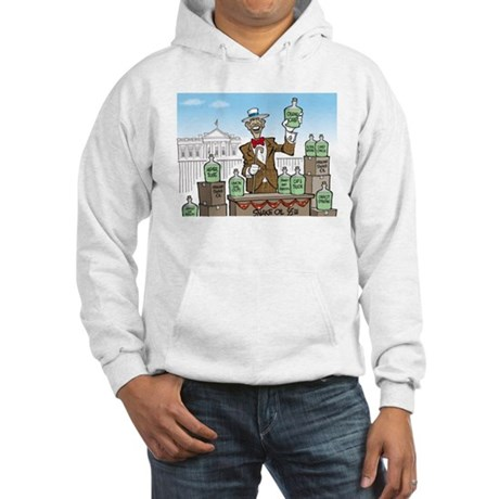 Anti Obama Snake Oil Salesman Hooded Sweatshirt