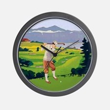 Vintage Style golf Highlands Golfing Scene Wall Cl