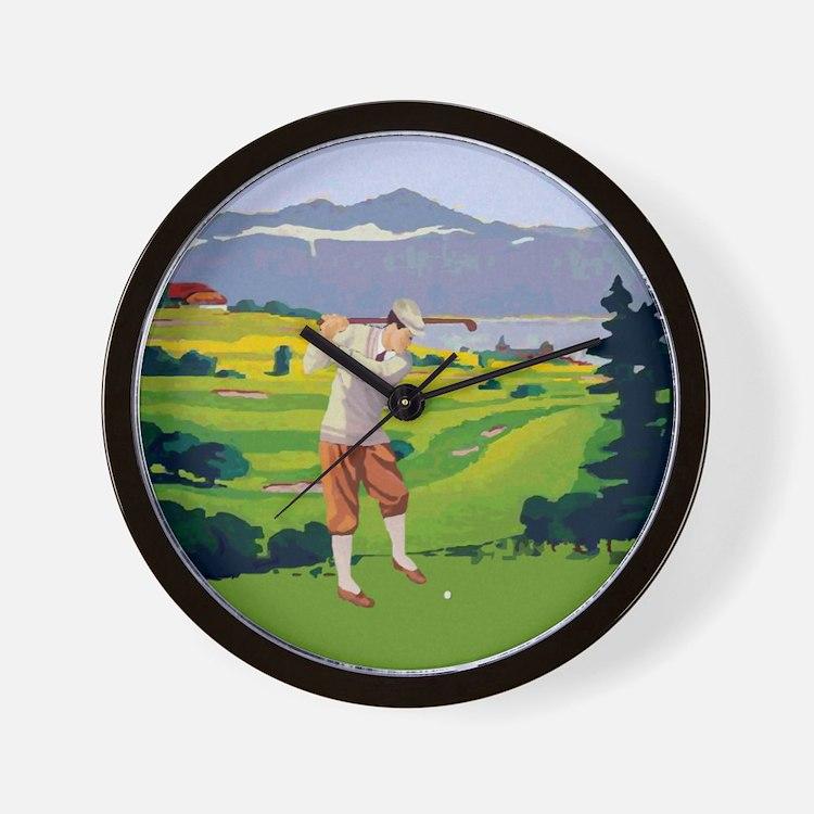 Vintage Style golf Highlands Golfing Scene Wall Cl