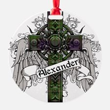 Alexander Tartan Cross Ornament