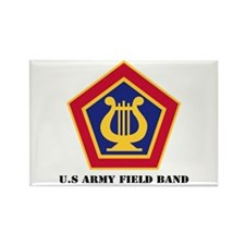 U.S Army Field Band with Text Rectangle Magnet