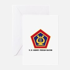 U.S Army Field Band with Text Greeting Cards (Pk o