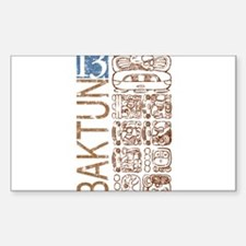 Baktun 13 - Mayan Calendar Glyphs Rectangle Sticke