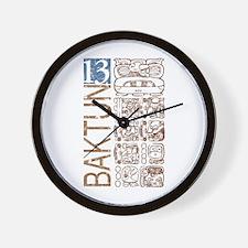 Baktun 13 - Mayan Calendar Glyphs Wall Clock