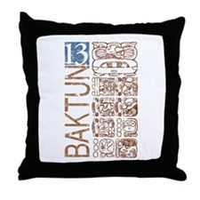 Baktun 13 - Mayan Calendar Glyphs Throw Pillow