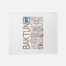 Baktun 13 - Mayan Calendar Glyphs Throw Blanket