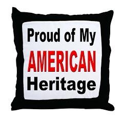 Proud American Heritage Throw Pillow