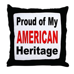 Proud American Heritage Throw Pillow