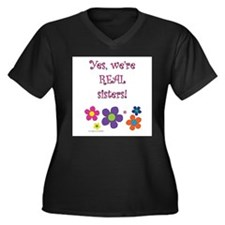 Yes, we're real sisters! Women's Plus Size V-Neck