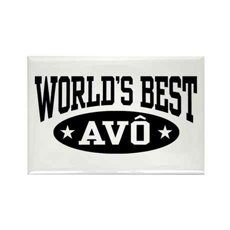 World's Best Avo Rectangle Magnet