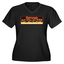 Retired But Still On Fire Women's Plus Size V-Neck