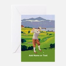 Personalized Golf Highlands Golfing Scene Greeting
