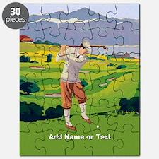 Personalized Golf Highlands Golfing Scene Puzzle