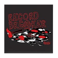 Record Breaker Tile Coaster