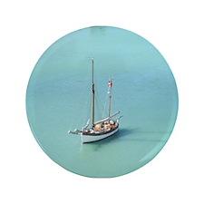"Carribean sailboat 3.5"" Button"