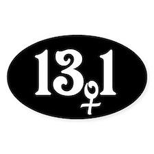 13.1 female runner Decal