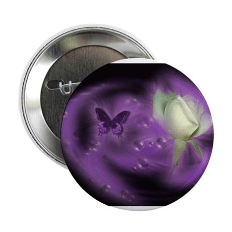 "Purple Butterfly 2.25"" Button (100 pack)"